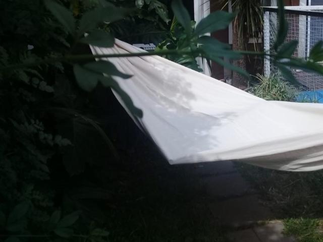 hamaca paraguaya para colgar o atar a árbol